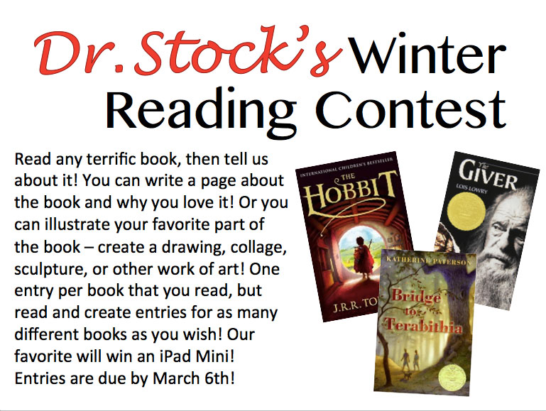 winter reading contest