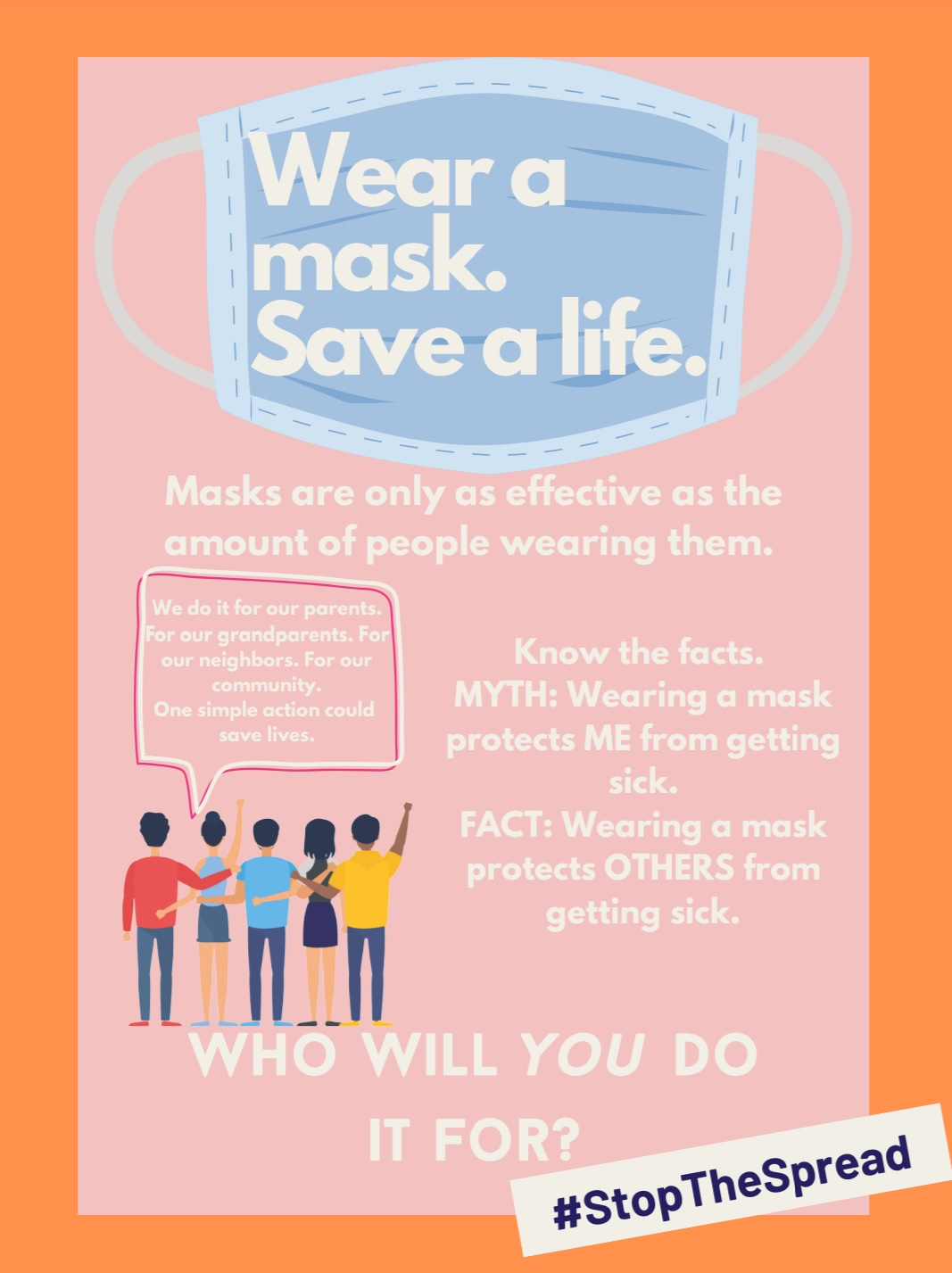 Wear a mask. Save a Life.